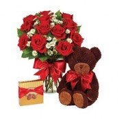 Roses with Teddybear